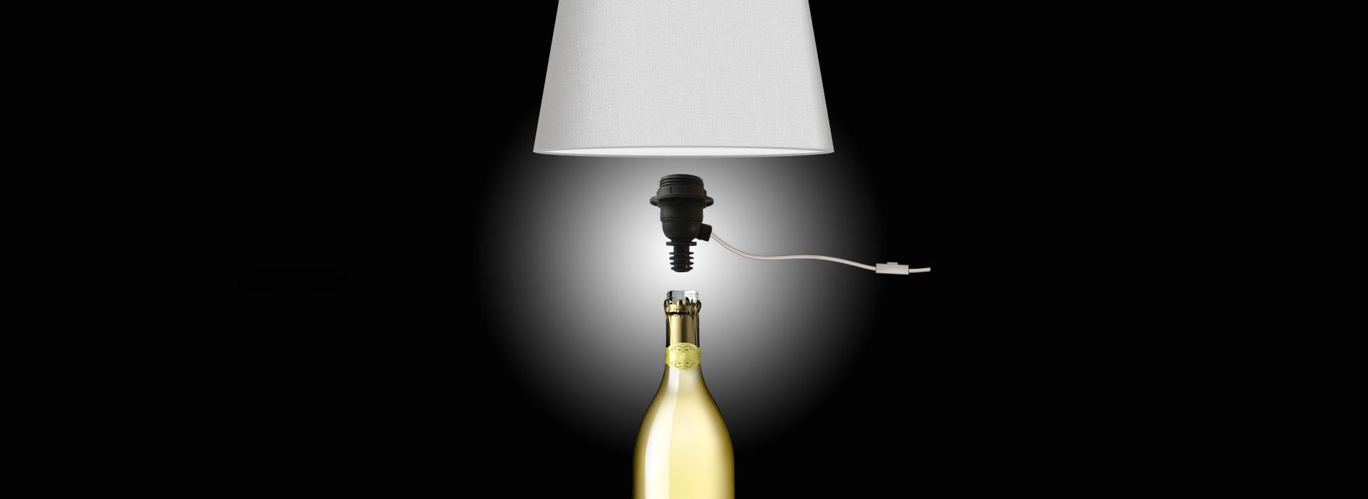 trasforma la tua bottiglia in lampada in 30 secondi